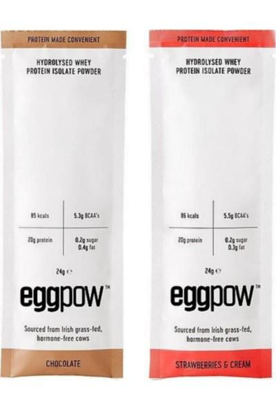 Egg Pow Yumurta Akı Tozu Çilekli & Çikolatalı 10 x 2 = 20 Şase
