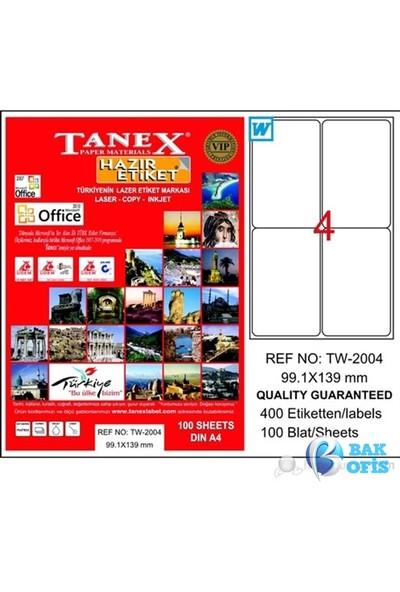 Tanex TW-2004 Laser Etiket 99.1 x 139 mm