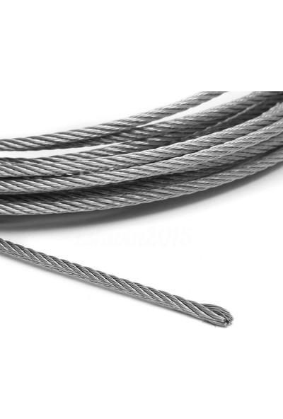 adelinspor 8 mm Çelik Halat Galvanizli 20 M