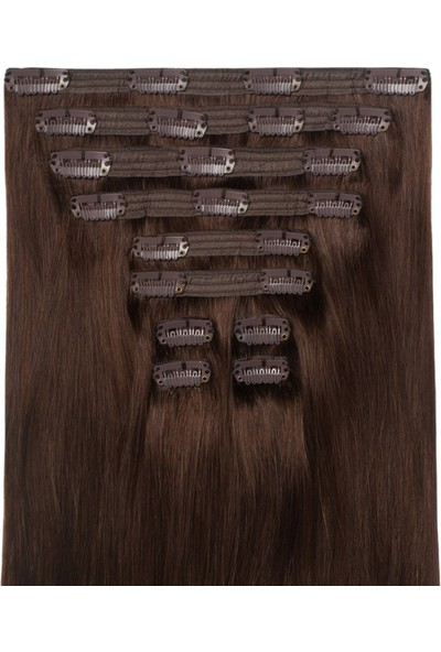 Belle Çikolata Kahverengisi Çıt Çıt Saç