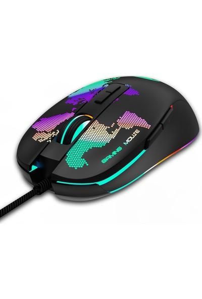 Everest GX69 Javelin 4800 DPI Makro Yazılımlı RGB Gaming Oyuncu Mouse
