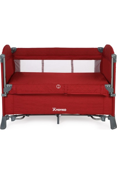 Yoyko Exclusive Comfort 8 in 1 Park Yatak Oyun Parkı Bordo 70 x 110 cm
