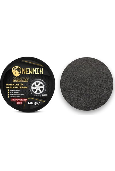 Newmix Gold Serisi Nano Lastik Parlatıcı Krem 130G