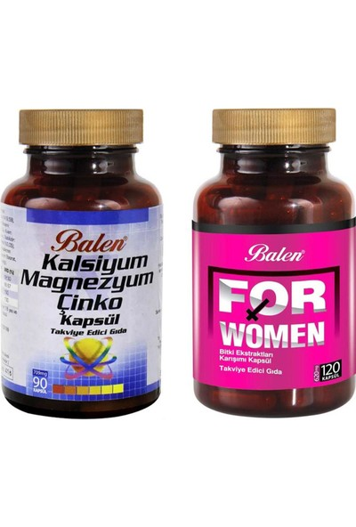 Balen For Woman(Bayan)+Balen Kalsiyum Magnezyum Çinko