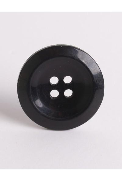Anka Polyester Siyah 4 Delikli Düğme 36 Boy 23 mm Cap 20'li