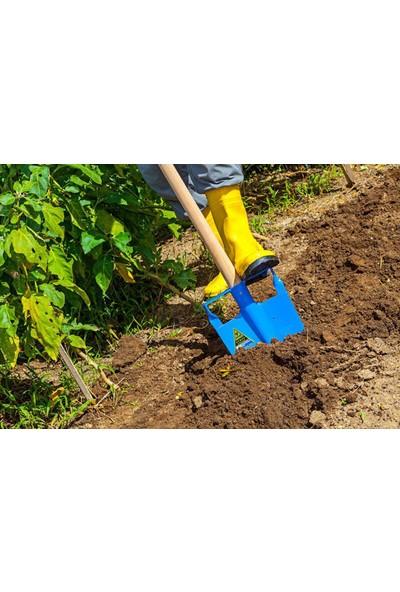 Yenal 3201 Baskılı Sivri Bel Küreği Bahçe Kürek Mavi