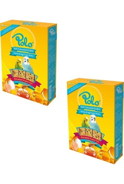 Polo Ballı Yumurtalı Muhabbet Kuşu Krakeri (10 Lu Paket) x 2 Adet