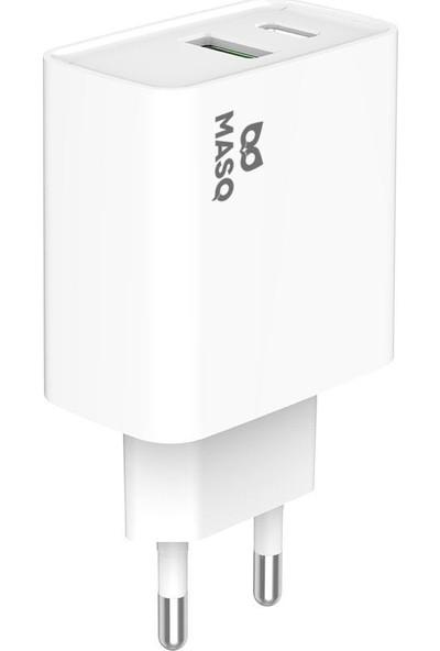MasQ Eb-Pd510 Apple Lisanslı 20W Hızlı Şarj Adaptörü (PD + QC)