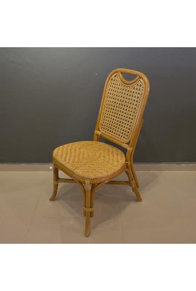 Adalı Bambu Rattan Mutfak Sandalyesi Balköpüğü