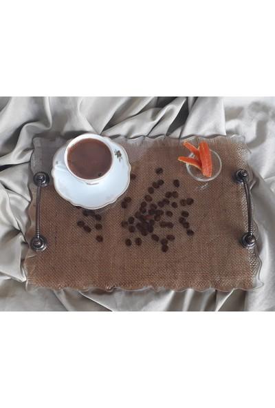 Aurora Kahve Çekirdekli Epoksi Tepsi