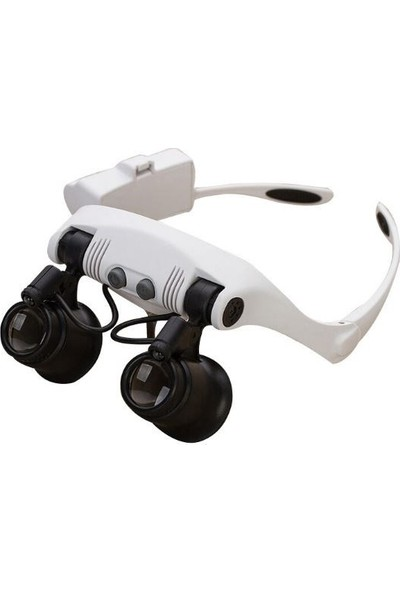 365gunserisonu Kafa Tipi LED Işıklı Gözlük Büyüteç 10X 15X 20X 25X Zoom Saat Telefon Tamir Bakım