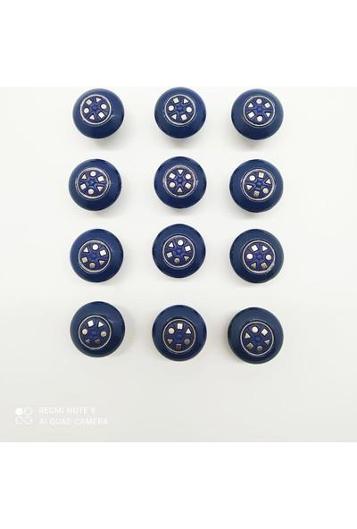 Teknomer ASC36 Çekmece Düğmesi Ultra Mavi 12 Adet