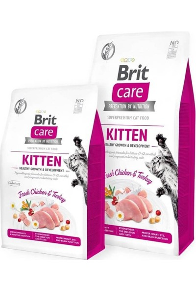 Brit Care Tahılsız Healthy Growth Tavuk Hindili Yavru Kedi Maması 7kg