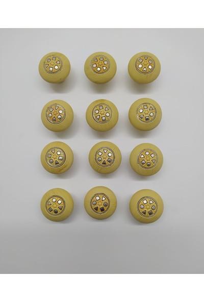 Teknomer Çekmece Düğmesi ASC044 Mat Çam 12 Adet