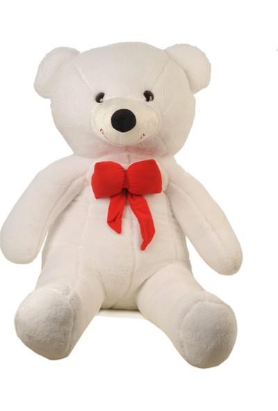 Bbc Sevgililer Gününe Özel Beyaz Peluş Ayıcık 110 cm Kırmızı Papyonlu Sevimli Ayı