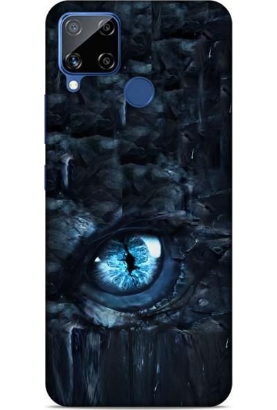 Lopard Oppo Realme C15 Kılıf Dragons (49) Ultra Silikon Kılıf Ejderha İskeleti
