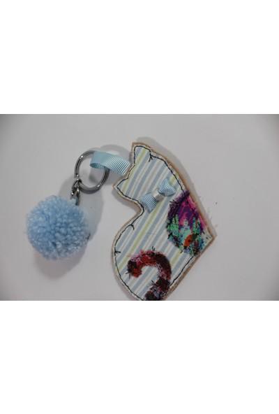 Kozalak Tasarım Handmade Maskot Kedi Mavi