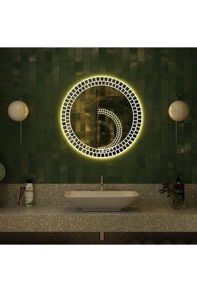 Camex Mozaik Detay Ledli Dekoratif Ayna