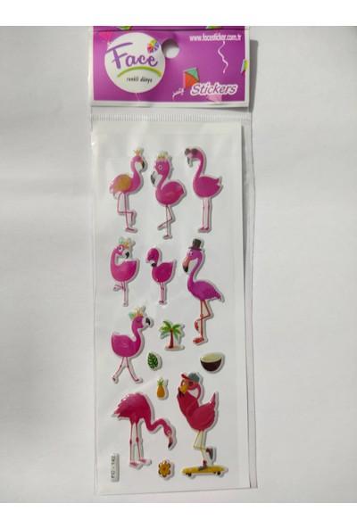 Face Flamingo Sticker