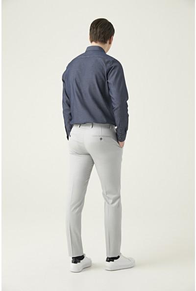Twn Gri Armürlü Kumaş Pantolon