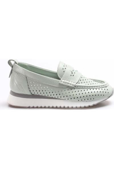Fast Step Deri Kadın Sneaker Ayakkabı 009ZA992