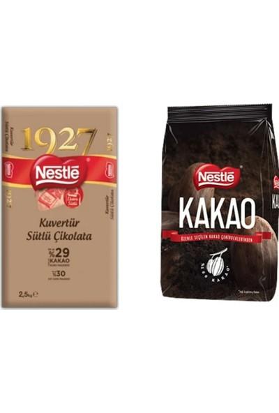 Nestle 1927 Sütlü Kuvertür 2,5 kg + Nestle Kakao 1 kg