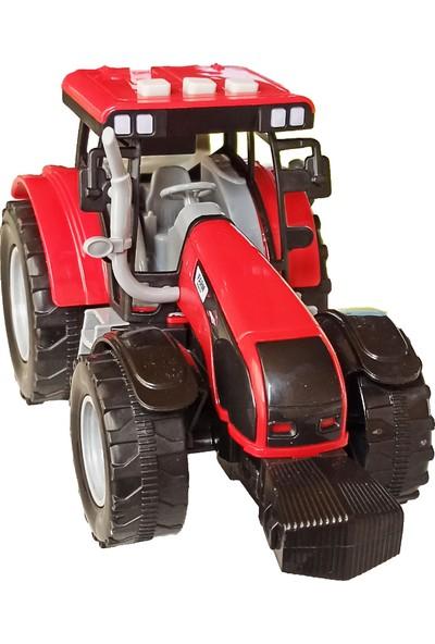 Meva Traktör Işıklı Sesli Sürtmeli Oyuncak Sevimli Traktör 20 cm