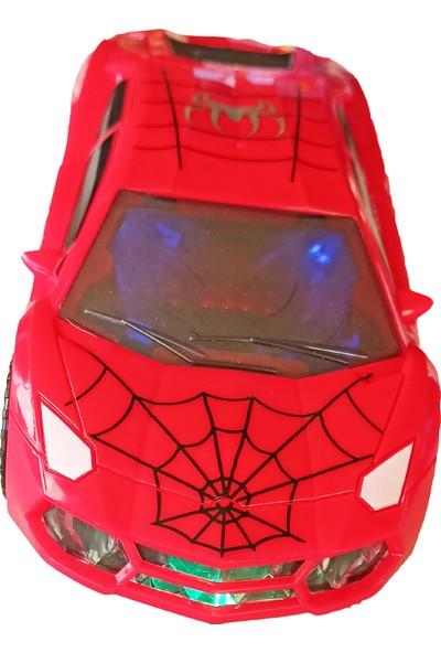 Meva Spiderman Örümcek Adam Aracı Çarpıp Dönen Sesli Işıklı Spiderman Aracı 25 cm
