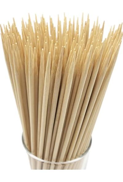 Var Efendim Bambu Çöp Şiş Ahşap Çubuk 100 Adet 20 cm