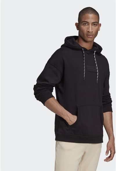 Adidas R.y.v. Silicone Double Linear Badge Hoodie Erkek Sweatshirt