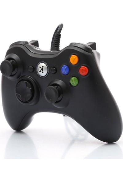Kerasus KR-2831 Titreşimli Kablolu Bilgisayar Oyun Kolu Gamepad