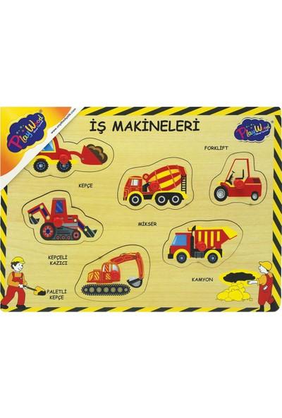 Onyıl Oyuncak 194/195-ONY Ahşap Tutmalı Iş Makinaları