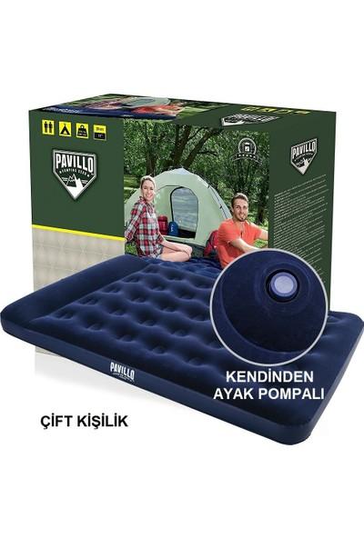 4 Kişilik Kamp Çadırı Seti Çift Kişilik Yatak, Pompa ve 2 Adet Yastık