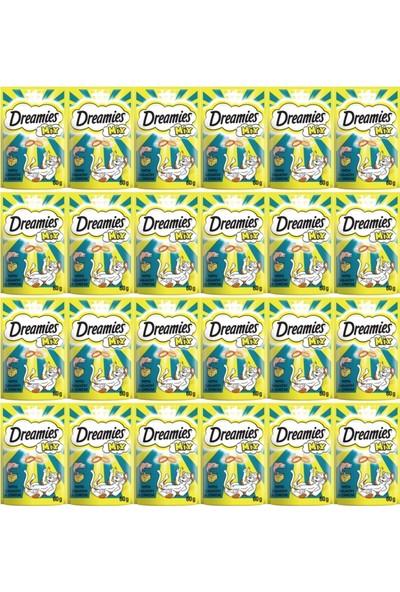 Dreamies Mix Somon Balıklı ve Peynirli Kedi Ödülü 60 gr (24 Adet)