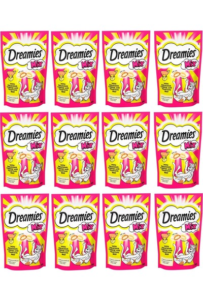 Dreamies Mix Sığır Etli ve Peynirli Kedi Ödülü 60 gr (12 Adet)