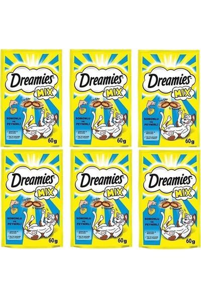 Dreamies Mix Somon Balıklı ve Peynirli Kedi Ödülü 60 gr (6 Adet)