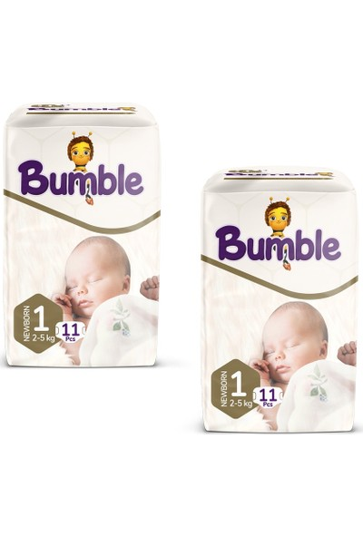 Bumble Bebek Bezi 1 Numara Newborn 11 Li (2-5 Kg) Deneme Paketi 2'li