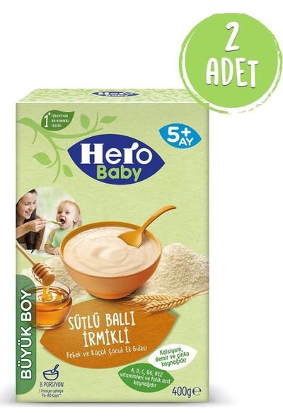 Hero Baby Sütlü Ballı Irmikli 400 gr Kaşık Maması 2 Adet