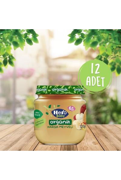 Hero Baby Karışık Meyve Püreli Kavanoz Mama 120 gr 12 Adet