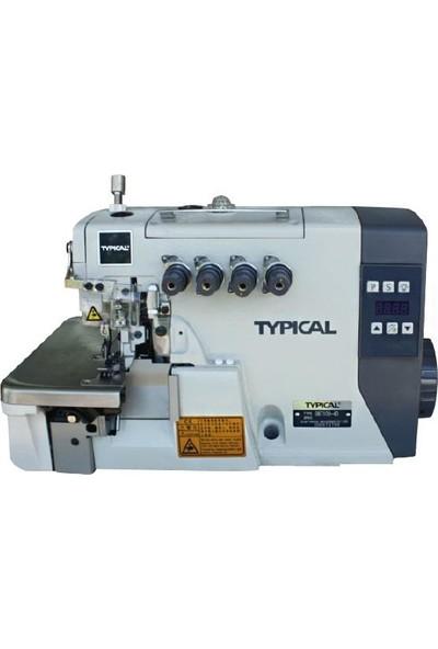 Typical GN-7100-4D İğne Pozisyonlu 4 İplik Overlok Makinesi Mekanik