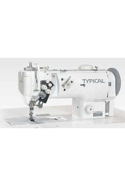 Typical GC-20666 Büyük Mekik Çift Pabuç Çift İğne Dikiş Makinesi Mekanik