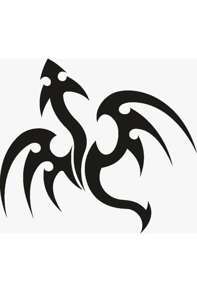 İnce Reklam Araba Kapı Sticker Oto Tattoo Dragon Sticker