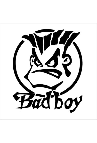 İnce Reklam Araba Bad Boy Bagaj Sticker Oto Sticker