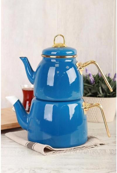 Acar Qualita Roma Çaydanlık Takımı Mavi APY-010784