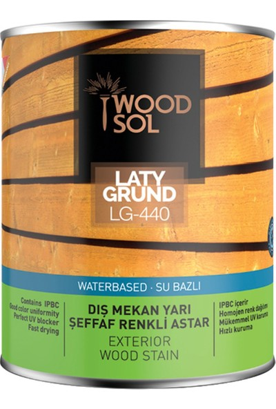 Woodsol Latygrund Dış Mekan Yarı Şeffaf Renkli Ahşap Astarı 2.5 lt