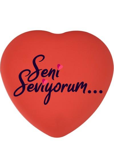 Sonar Seni Seviyorum Kırmızı Metal Kalpli Kutu