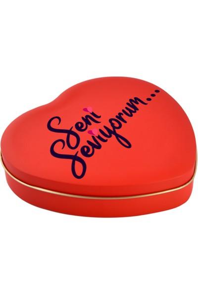 Sonar Tıp Bayramı Hediyelik Kırmızı Kalpli Metal Kutu