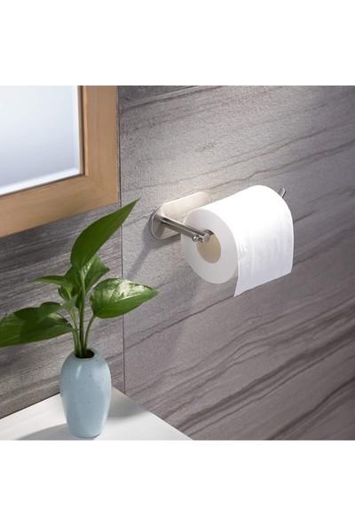 ZiftUnique Paslanmaz Çelik Tuvalet Kağıtlığı / Yapışkanlı Sistem