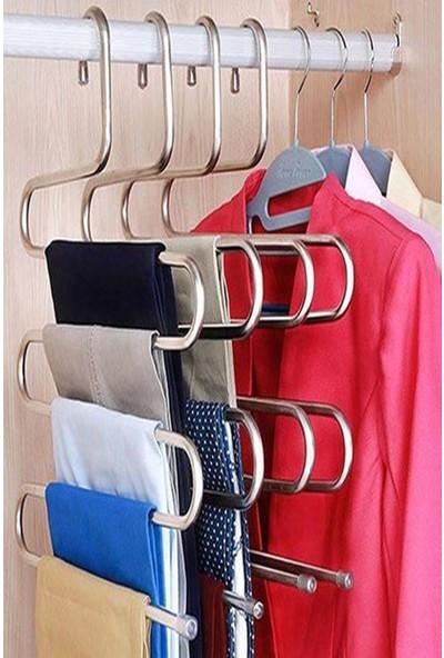 Kitchen Life 3 Adet , 5 Katlı Metal Pantolon Eşarp Askısı