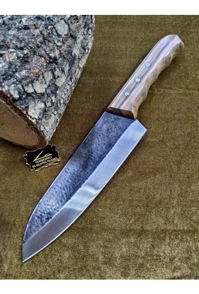 Taşçı Bursa Dövme Çelik Şef Bıçağı El Yapımı 30 cmm
